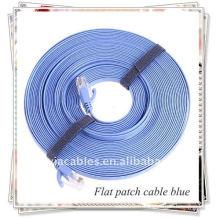 RJ45 Câble de connexion plat pour le réseautage, bleu.