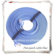 RJ45 Flat patch cable for networking, blue one.