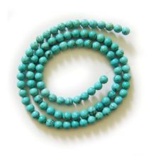 5MM Turquoise Round Beads