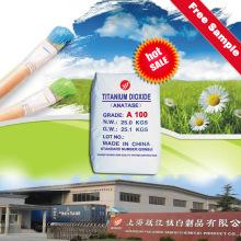 Anatase económico Anhídrido de titanio A100 Polvo para recubrimiento Uso