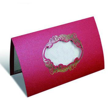 Cartão de papel com logotipo impresso personalizado