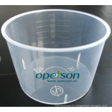 Tasse en plastique médical jetable approuvé par Ce
