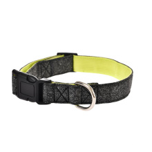 Stainless Steel D Ring Soft And Comfortable Durable Custom Leather Dog Collar