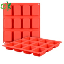 Silicone Soap 12 Cavity Rectangle Bar Zeep Schimmel