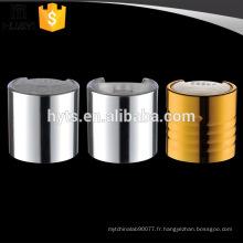 Bouchon de bouteille en aluminium 24/410 avec bouchon à vis pour lotion cosmétique