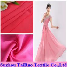100% Polyester Spandex Chiffon for Lady Wedding Dress Fabric
