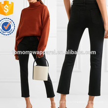 Укороченные с высокой посадкой прямые джинсы Производство Оптовая продажа женской одежды (TA3059P)