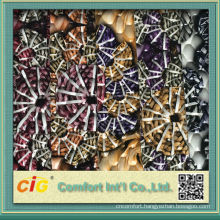 Fashion new design colorful printing and assorted vacuum embossed cheap pvc leather for decorations