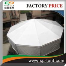 Tente de dôme partielle en polygone ronde à vendre