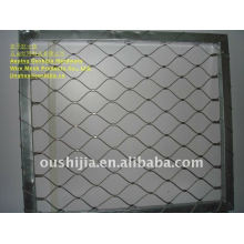 zoo wire mesh/bird screen mesh/twisted steel grid wire mesh