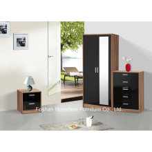 Ottawa 3 Piece High Gloss Bedroom Mirrored Wardrobe Sets