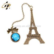 En gros en vrac pas cher personnalisé Tour Eiffel en métal signet pour les livres avec votre logo