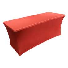 Wholesale Solid colored  4ft / 6ft / 8ft spandex rectangular table covers Stretch Tischdecke
