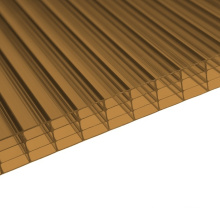 Bronze 4 Wall Polycarbonate Multiwall Sheet (OEM avaliable)