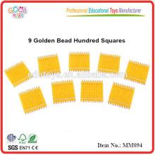 montessori material toys 9 Golden Bead Hundred Squares
