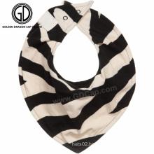 Fashion Trendy Zebra Cotton Baby Wholesale Baby Bandana Bibs