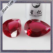 # 5 Rubí sintético rojo brillante para anillos de moda Glaomur