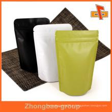 Guangzhou fornecedor OEM por atacado personalizado impresso grau alimentar stand up saco de papel zipper