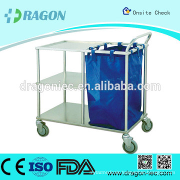 DW-TT211 surgical instrument trolleys medical treatment trolley/cart hospital cart stainless steel trolley cart for hot sale