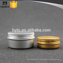 recipiente cosmético del tarro poner crema de aluminio