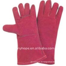 Schweißerhandschuhe aus Leder