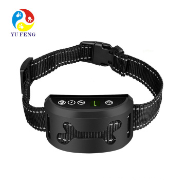Stop Barking Collar for Small Medium Large Dogs Best No Bark Control Collar Pet Safe Waterproof Device Best 7 level Black and Rechargeable anti bark electric shock training collar