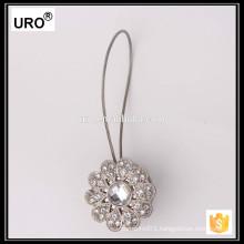 silver decorative drapery hooks crystal curtain tie backs