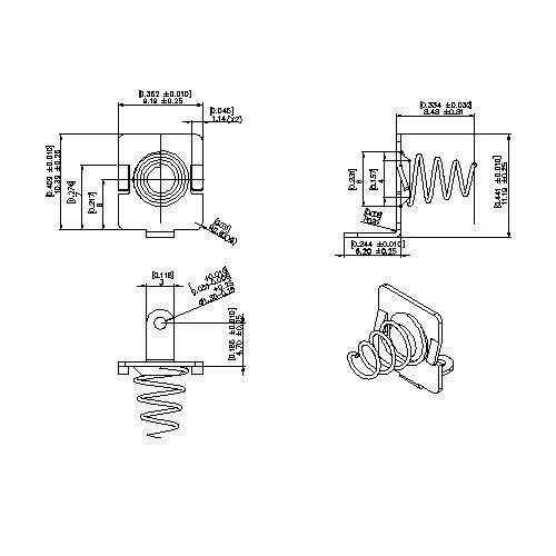 Battery Contacts FOR L5204 XR BS-S-SI-R-L5204XR