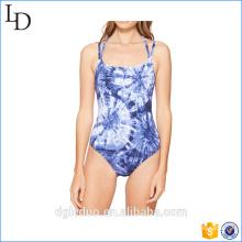 chica de verano impresa sexy traje de baño mujeres traje de baño azul