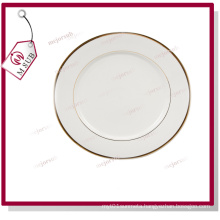 Well-Sold! 8′′ Ceramic Plate with Golden Rims