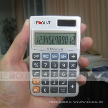 12 Ziffern Dual Power Taschenrechner mit Hartmetallabdeckung (CA3061)