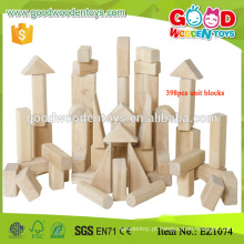 398pcs Solid Wooden Construction Toy Standard Unit Blocks