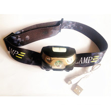 Rechargeable CREE 3W LED Headlamp with USB Connector (HL-16YD01)
