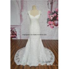 Großhandelsneues Muster-Brautkleid-Nixe-Fußboden-Längen-Hochzeits-Kleid