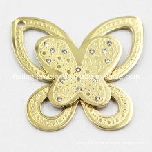 Pendentif à papillon en acier inoxydable à chaud
