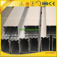 Perfis de alumínio anodizado de alta qualidade da extrusão para a parede de cortina