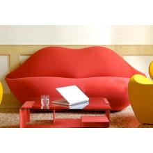 Lazer moderno lábio e criativo sofá para sala de estar