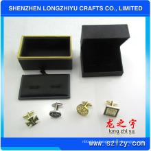Профессиональный изготовленный на заказ роскошный металлический золотой запонки, сделанные в Китае