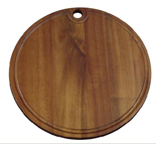 round wood cutting board with groove