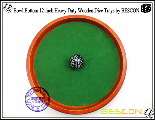 Bowl Bottom 12-inch Heavy Duty Wooden Dice Trays by BESCON-3
