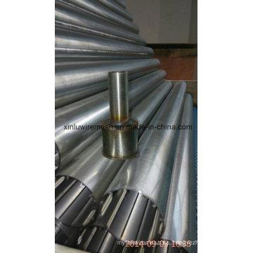 Tubo de filtro circular sin ángulo (tipo de alambre V)