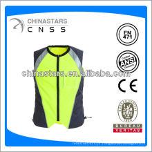 Colete de segurança de design de moda para segurança rodoviária com fita EN20471
