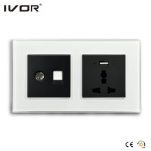 Mechanical Switch and Socket in Connect Version Glass Outline Frame