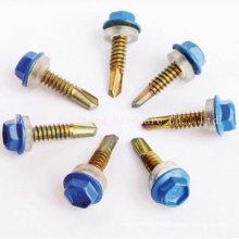 Hex Head Self Drilling Screw With Plastic Caps