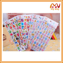 wholesale alphabet stickers,cartoon puffy sticker, new products 2016
