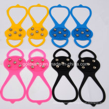 Calabash Shape 5 Teeth Antiskid Shoe Covers Silicone Ice Gripper