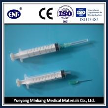 Медицинские одноразовые шприцы, с иглой (10 мл), Luer Slip, с сертификатом Ce & ISO
