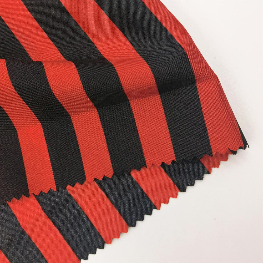 Fashion Striped Woven Polyester Pongee Fabric