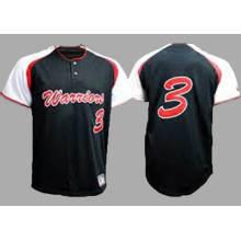 100% poliéster sublimação impressão senhoras em branco jersey de beisebol