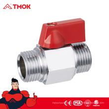 TMOK venta caliente igual forma macho hilo DN8 latón cromado mini válvula de bola con alta calidad y buen precio